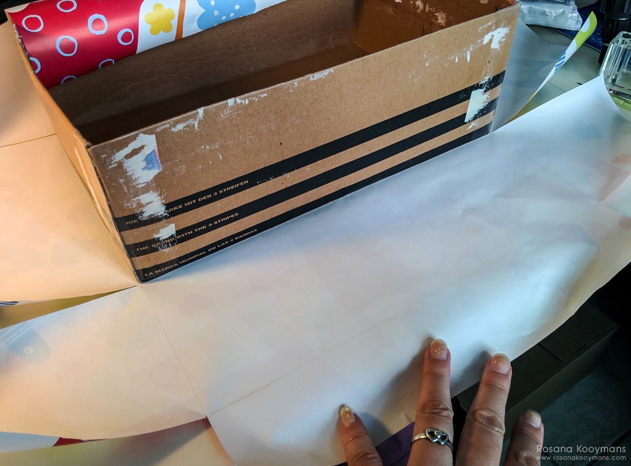 DIY decorate a shoebox