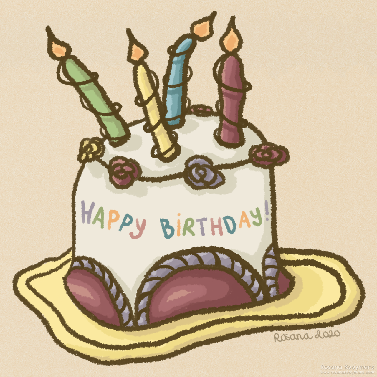 Birthday Cake Hat Illustration