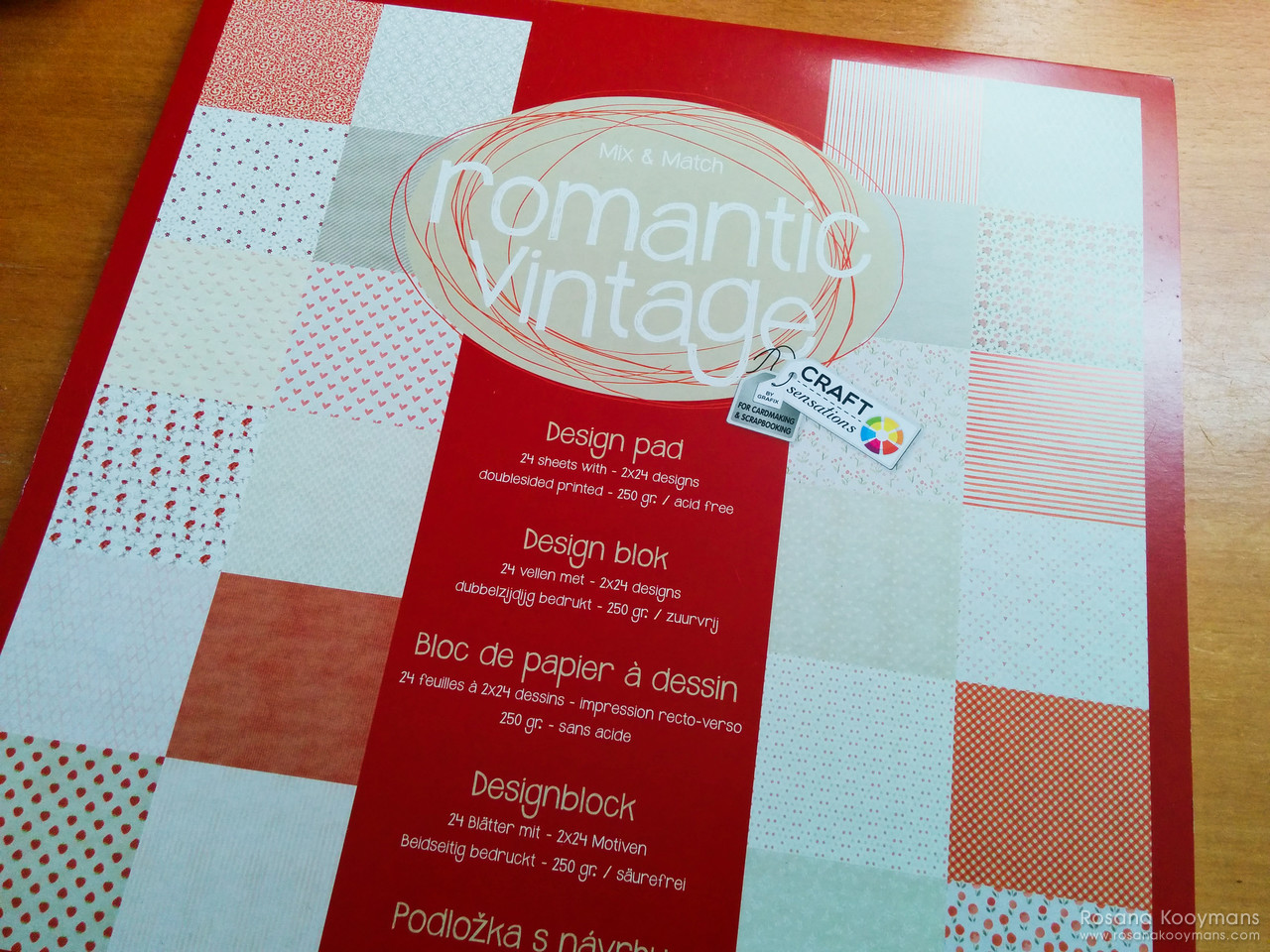 365 - April 6, 2017: Romantic Vintage scrapbooking cardstock Action
