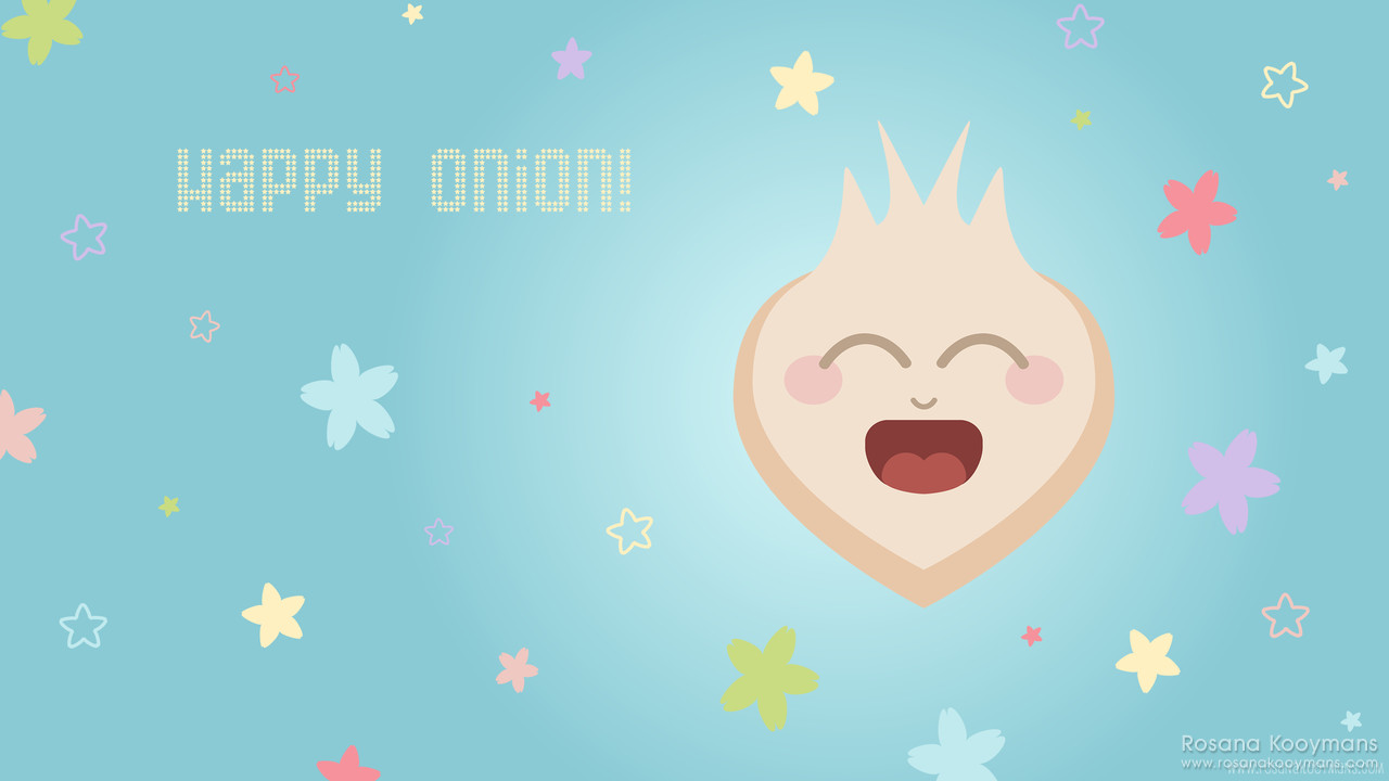Happy Onion wallpaper