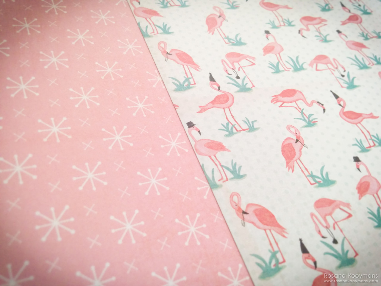 365 - May 5, 2017: Flamingo paper! Authentique Fabulous scrapbooking kit